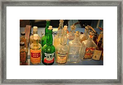 Barber Bottles Framed Print by Marty Koch