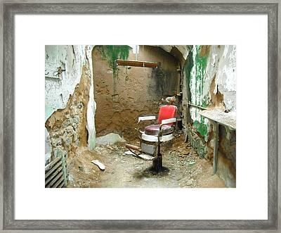 Barber's Cell Framed Print by Christophe Ennis