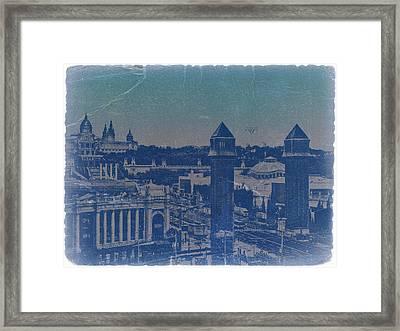 Barcelona Framed Print by Naxart Studio