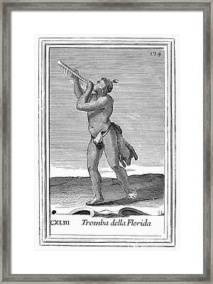 Bark Trumpet, 1723 Framed Print by Granger