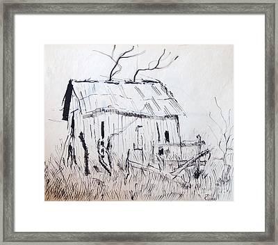 Barn 1 Framed Print by Rod Ismay