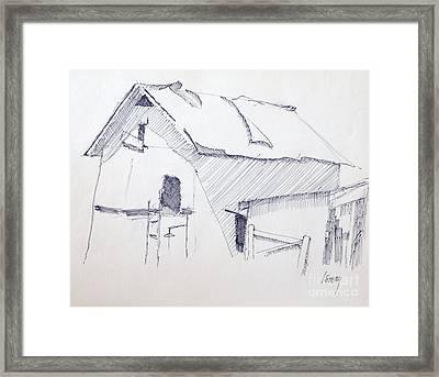Barn 3 Framed Print by Rod Ismay