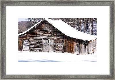 Barn Along Coon Creek Road Framed Print by Thomas R Fletcher