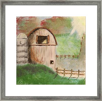 Barn Framed Print by Gail Schmiedlin