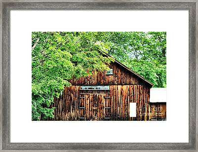 Barn Framed Print by HD Connelly