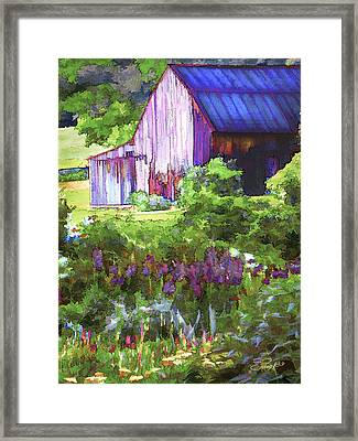 Barn In The Hollow Framed Print by Suni Roveto