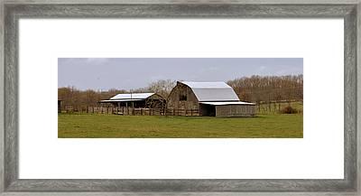 Barn In The Ozarks Framed Print by Marty Koch
