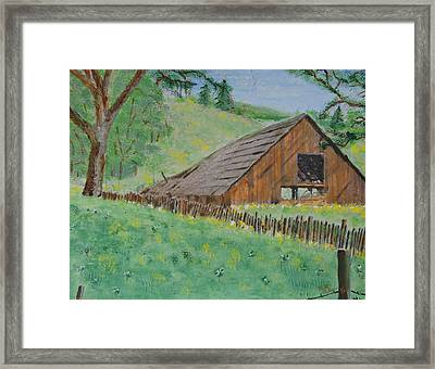 Barn On Hiway 20 Framed Print by Mick Anderson