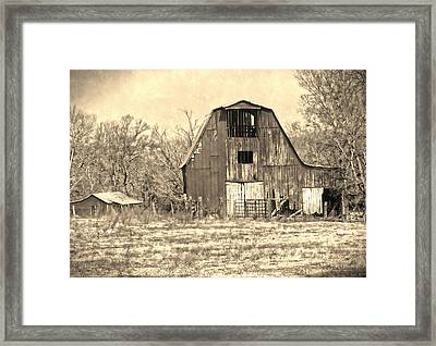 Barn-sepia Framed Print by EricaMaxine  Price