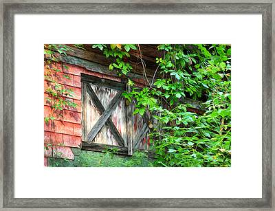 Barn Window Framed Print by Bill Cannon