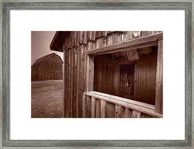 Barns Grand Tetons Framed Print by Steve Gadomski