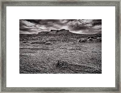 Baron Land And Gloomy Sky Framed Print by Darcy Michaelchuk