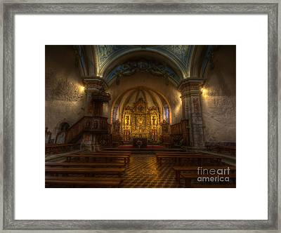 Baroque Church In Savoire France Framed Print by Clare Bambers