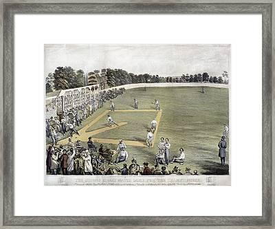 Baseball, 1866 Framed Print by Granger