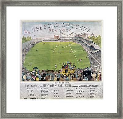 Baseball, 1887 Framed Print by Granger