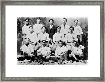 Baseball. Chinese-american Baseball Framed Print by Everett