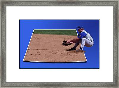 Baseball Hot Grounder Framed Print by Thomas Woolworth