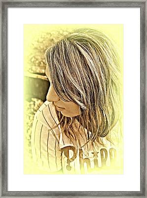 Baseball Love Framed Print by Ashley Branstetter