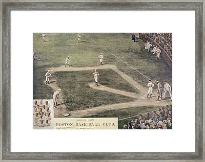 Baseball, New York At Boston, 1889 Framed Print by Everett