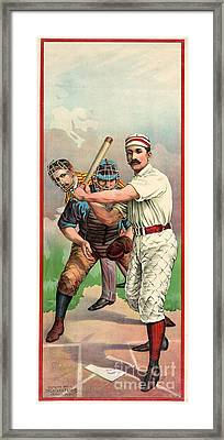 Baseball Player, C1895 Framed Print by Granger
