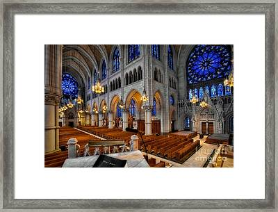 Basilica Of The Sacred Heart Framed Print by Susan Candelario