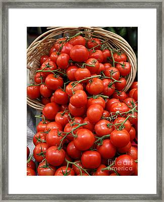 Basket Of Tomatoes - 5d17064 Framed Print by Wingsdomain Art and Photography