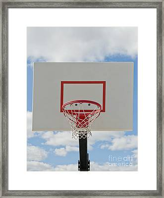 Basketball Backboard With Hoop And Net Framed Print by Thom Gourley/Flatbread Images, LLC