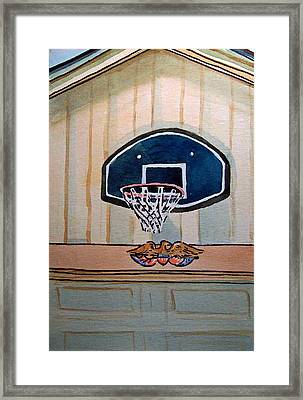 Basketball Hoop Sketchbook Project Down My Street Framed Print by Irina Sztukowski