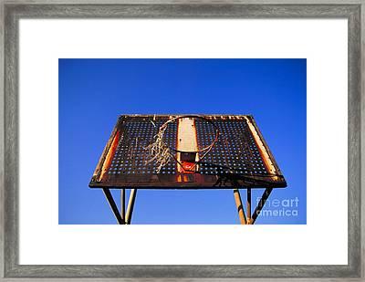 Basketball Net Framed Print by John Greim