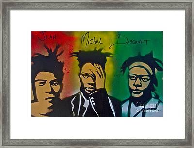 Basquait Me Myself And I Framed Print by Tony B Conscious