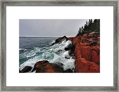 Bass Harbor Head Lighthouse Framed Print by Rick Berk