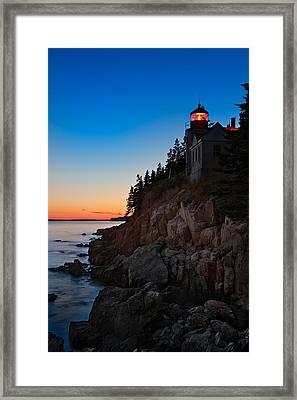 Bass Harbor Lighthouse Maine Framed Print by Steve Gadomski