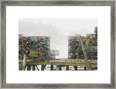 Bass Harbor Lobster Traps Maine  Framed Print by Keith Webber Jr