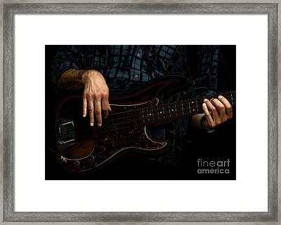 Bass Side Blues Framed Print by Steven  Digman