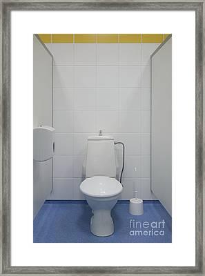 Bathroom Stall Framed Print by Jaak Nilson