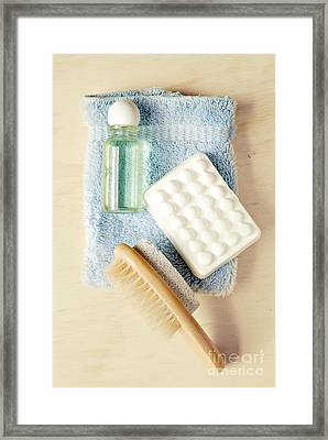 Bathroom Still Life Framed Print by HD Connelly