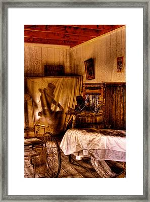 Baths - No Couples - At The Bonnie Springs Ranch Old West Town Framed Print by David Patterson