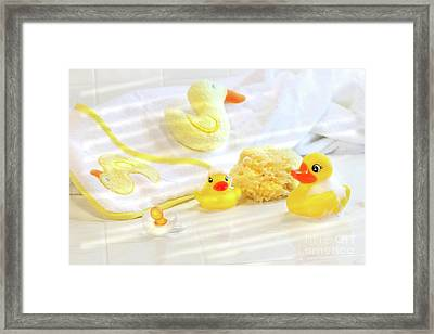 Bathtime For Baby Framed Print by Sandra Cunningham