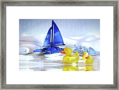 Bathtime Fun  Framed Print by Sandra Cunningham