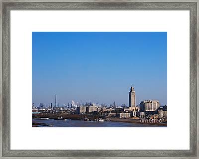 Baton Rouge Skyline Louisiana  Framed Print by Susanne Van Hulst