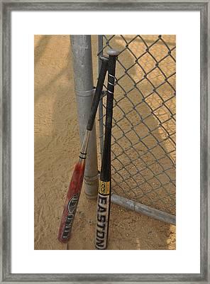 Batting For Danny  Framed Print by Brynn Ditsche