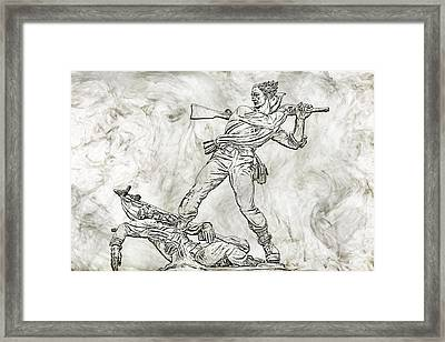 Battle In The Wheatfield  Mississippi At Gettysburg Sketch Framed Print by Randy Steele