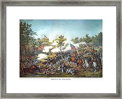 Battle Of Atlanta, 1864 Framed Print by Granger