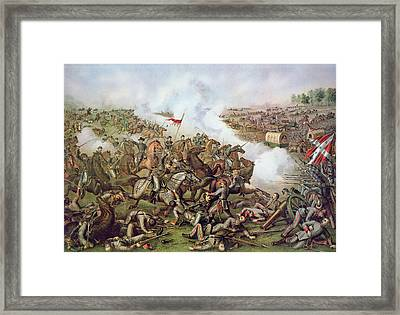 Battle Of Five Forks Virginia 1st April 1865 Framed Print by American School