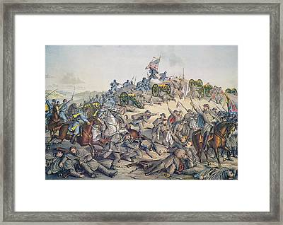 Battle Of Nashville December 15-16th 1864 Framed Print by American School