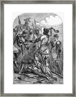 Battle Of Poiters, 1356 Framed Print by Granger