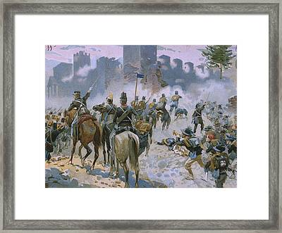 Battle Of Solferino And San Martino Framed Print by Italian School