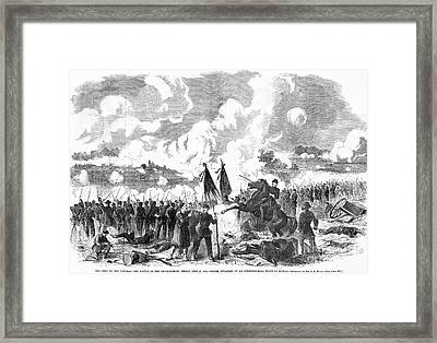 Battle Of The Chickahominy Framed Print by Granger
