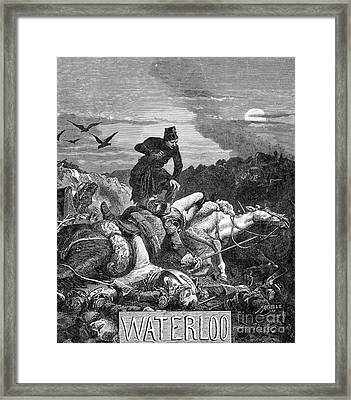 Battle Of Waterloo, 1815 Framed Print by Photo Researchers