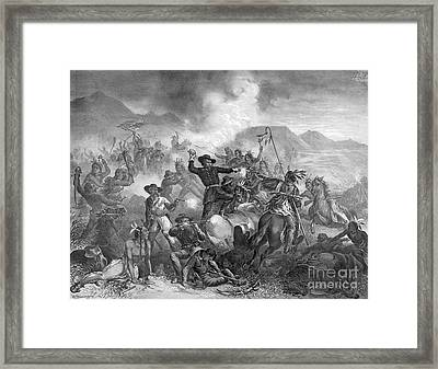 Battle On The Little Big Horn, 1876 Framed Print by Photo Researchers